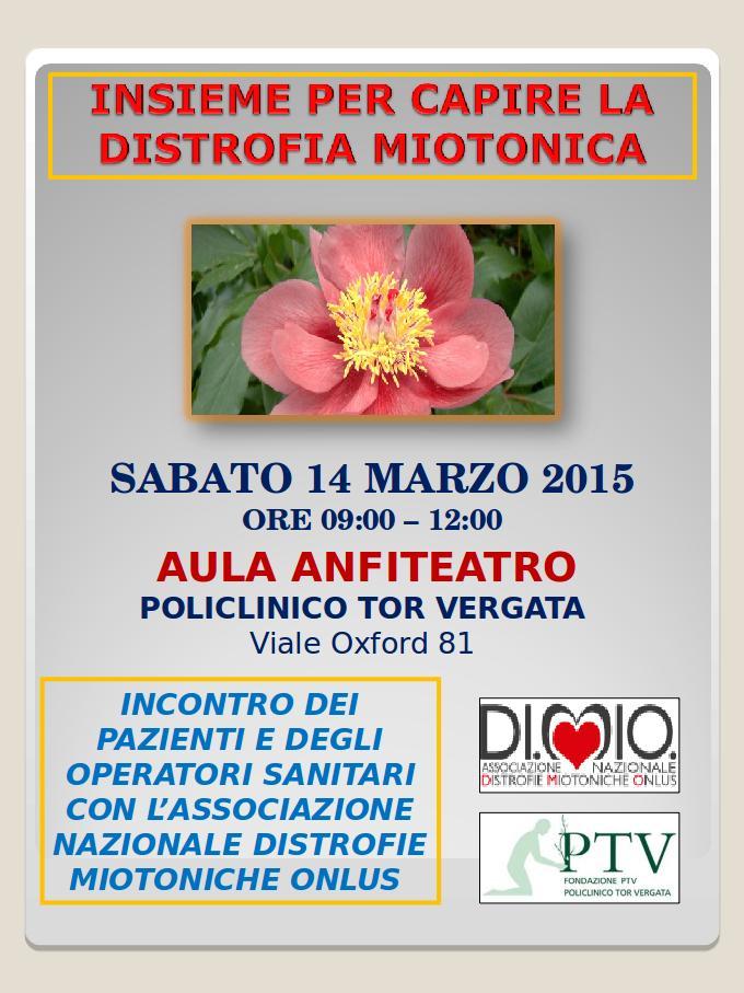 insieme per capire la Distrofia Miotonica - roma, 14 marzo 2015